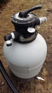 Pompe et filtreur piscine hors terre