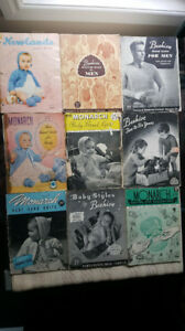 Lot of Vintage Knighting and Crochet Patterns