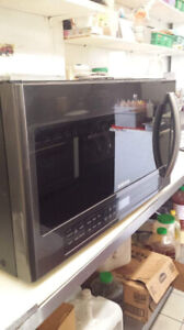 Samsung   Over the range microwave stainless steel