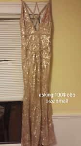 Beautiful gold gown from The clothing company.