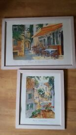 Paul Simmons 'Cafe Provence' & 'Harbour Steps'