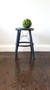 Hand Painted Vintage Industrial Stool