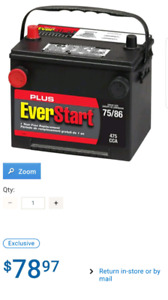 Everstart Plus 75 dual terminal Battery