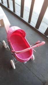 Little girls pink carriage