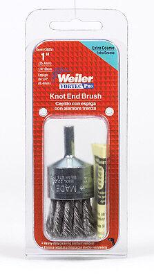 Weiler Vortec Pro 1 In. Knotted Wire Wheel Brush Steel 22000 Rpm 1 Pc.