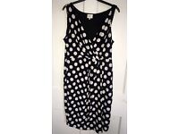 Size 16 Black and white dress