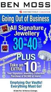 BEN MOSS JEWELLERS GOING OUT OF BUSINESS SALE!!!!!!!!!!!!!!!!!!
