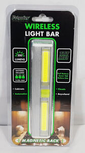 WIRELESS LIGHT BAR BATTERIES INCLUDED 200 LUMENS MAGNETIC MOUNT