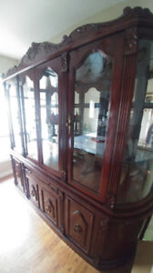 WOODEN HUTCH (DISPLAY CABINET) UNIT FOR TABLEWEAR