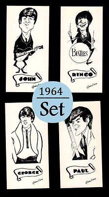 1964 The Beatles Vintage Mathews Rotary Press Gordon Currie Art Card Set (4) L37