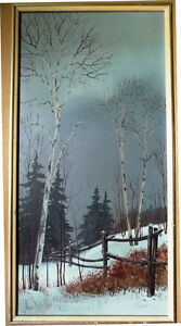 "Snowy Forest Landscape by Hilkka Pellikka ""The Evening Storm"" Stratford Kitchener Area image 2"