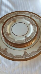 Assiettes Aynsley English Bone China Trafalgar 177 Ivory