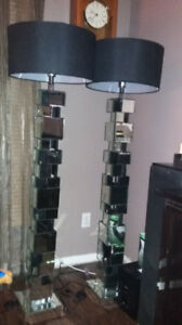 Brand new Beveled Mirror Glass Floor Lamps