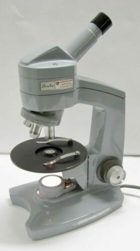 American Optical AO Sixty 60 Microscope 4x 10x 43x Science Laboratory Tested