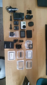 GoPro Hero 3+ Silver with LCD screen, 3 batteries, and more