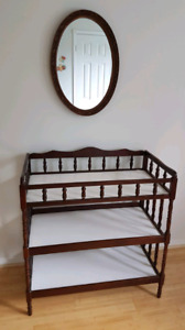 Solid Wood Crib and Change Table Set - Like NEW!