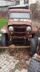 1960 and 58 kaiser willys jeep trucks