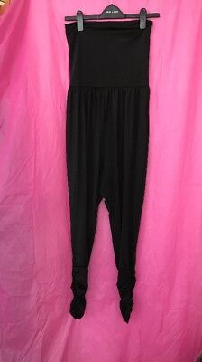 Black Catsuit Spandex With Hareem Trouser All In One Size - All Black Catsuit