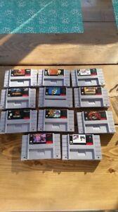 Jeux cassette super Nintendo snes
