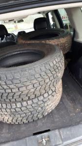 Set of 4 tires 245 70 16 Yokohama Geolanders