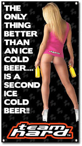 Sexy Valerie Cormier 2nd Cold Beer Banner Sports Bar Pub Happy Hour Beer Sign