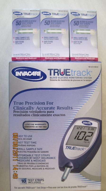 Truetrack Blood Glucose (150) Test Strips Free Meter