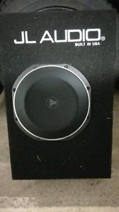 "JL audio 10"" subwoofer w/ box and amp"