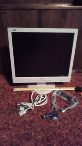 COMPUTER MONITOR WITH CABLES $5.00