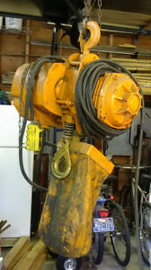 KITO 1-1/2 TON ELECTRIC CHAIN HOIST $2,000 OBO  New Price Campbell River Comox Valley Area image 1