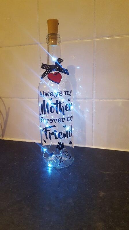 light up gift bottles £12 each