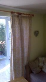 Lovely, Corn yellow and biege, lined, Next curtains