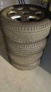 """18"""" OEM Volvo alloy rims and 235/60/18 tires"""
