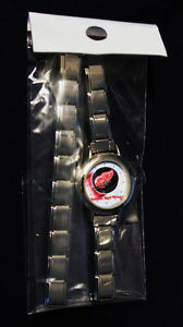 DETROIT RED WINGS Italian Charm Bracelet Watch, NEW!