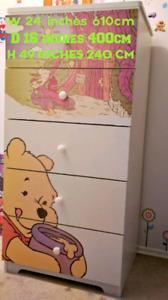 Winnie the Pooh 5 drawer Dresser