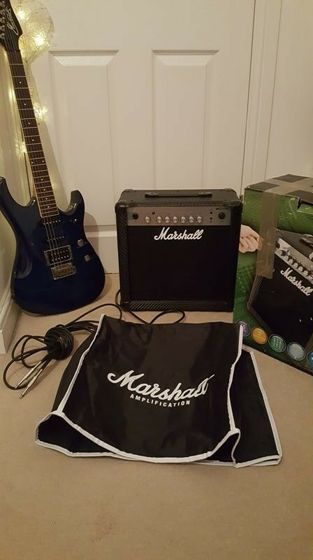 Maverick F4 Electric Guitar (blue burst) + Marshall
