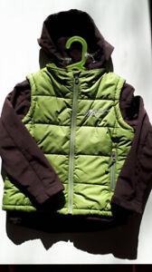 Manteau automne-printemps gr. 6 ans avec veste sans manche