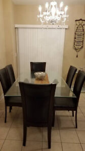 6 CHAIR DINING TABLE ($300)