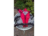2 Buoyancy aids/jackets XL/L & S/M. Perfect condition.