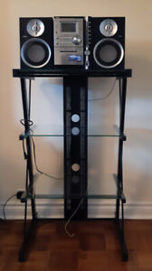 AIWA micro stereo system and stand....$80