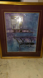 """LARGE WALL PIC/ PAINTING MEASURES 34"""" WIDE X 39: HIGH ASKING $2"""