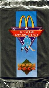 McDonald's HOCKEY packs .... 1991-92 .... PREMIER EDITION