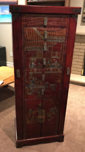 Asian styled storage / jewellery cabinet