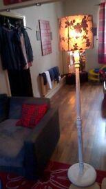 shabby chic wooden floor lamp