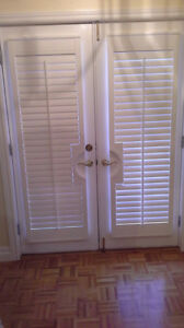 White Florida Shutters for French Doors GOOD DEAL