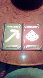 Two minecraft hard cover books the pair for only $5.00