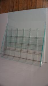 Présentoir en acrylique transparent de 30 pochettes (32 x 26'')