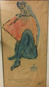 Rare Pat Martin Bates,RCA,signed original,Green Haired Woman,62
