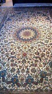 handmaid silk&wool persian rug from naiin of iran