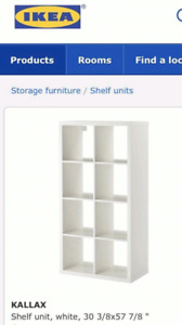 Wanted white shelving