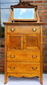 ANTIQUE DRESSERS & MIRRORS
